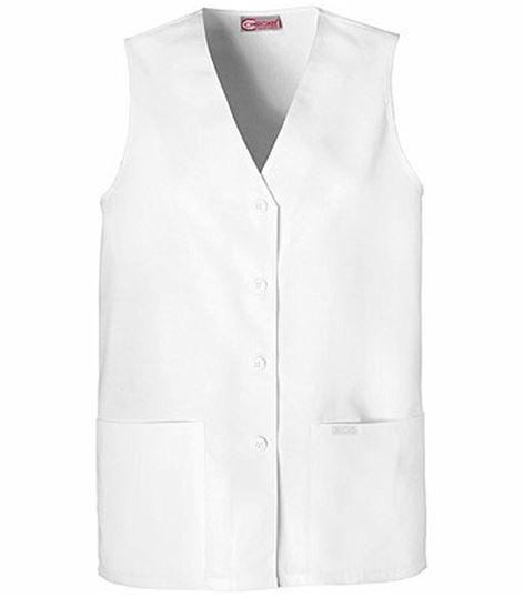 Cherokee Women's Button Front Scrub Vest-1602