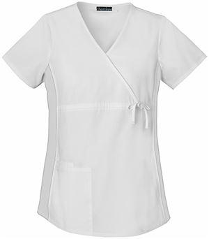 Cherokee Flexibles Maternity Mock Wrap Solid Scrub Top-2892