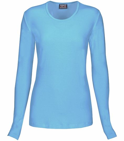 Cherokee Workwear Women's Long Sleeve Underscrub Knit Tee-4881