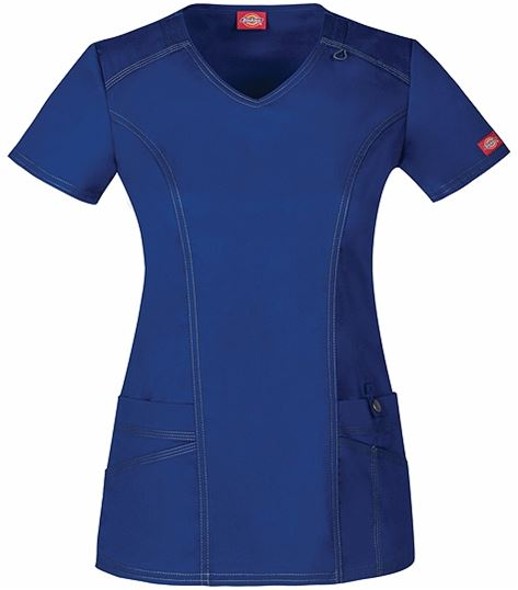 Dickies GenFlex Women's  V-Neck Solid Fashion Scrub Top-85812