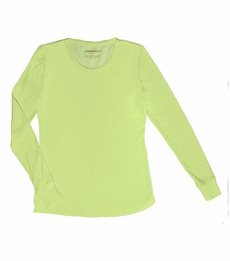 HeartSoul Women's Long Sleeve Basic Solid Underscrub Knit Tee-20800