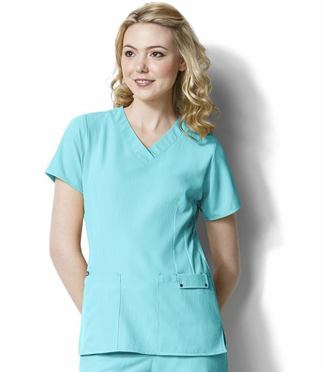 WonderWink Easy Fit Women's Solid V-Neck Scrub Top-6025
