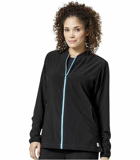 Carhartt Crossflex Women's Zip Up Warm-Up Scrub Jacket ...
