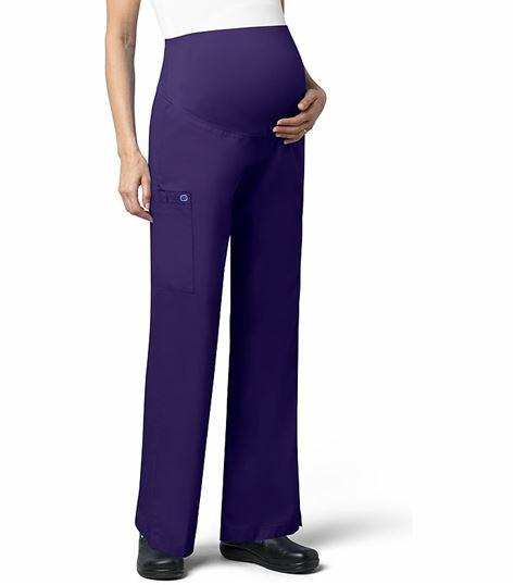Wonderwink Wonderwork Flare Leg Maternity Scrub Pants With Cargo Pocket-545