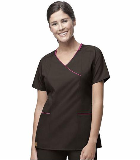 Carhartt Premium Women's Mock Wrap Contrast Trim Scrub Top-C10301