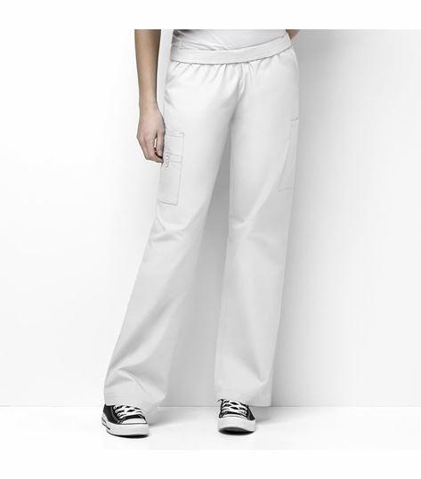 WonderWink Origins Women's Full Elastic Waist Cargo Scrub Pants-5016