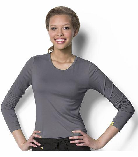 WonderWink Layers Women's Silky Long Sleeve Underscrub Knit Tee-2009
