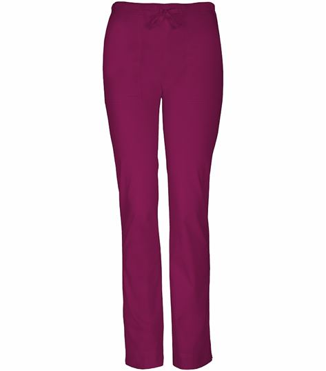 Cherokee WorkWear Stretch Mid-rise Slim Drawstring Pant 4203