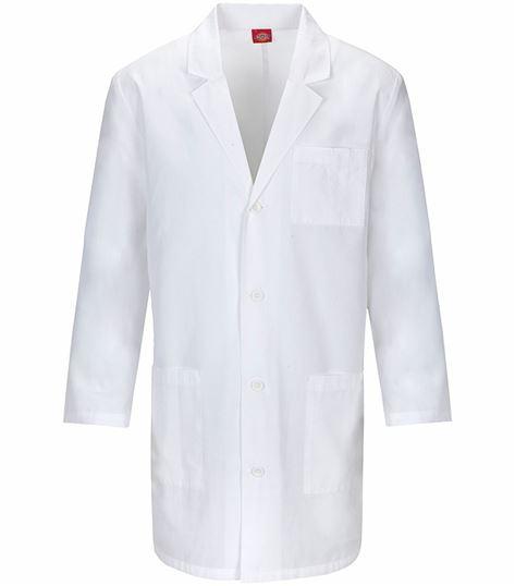 """Dickies EDS 37"""" Unisex White Lab Coat-83402"""