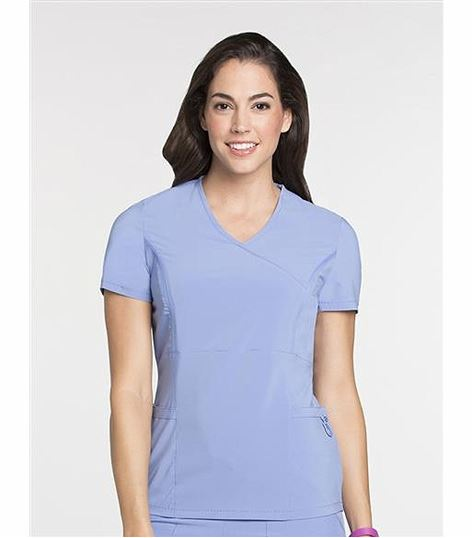 Lynx Women's Crossover Solid Tunic Scrub Top-6004