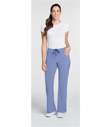 Lynx Women's Stretch Elastic Back Cargo Scrub Pants-6503