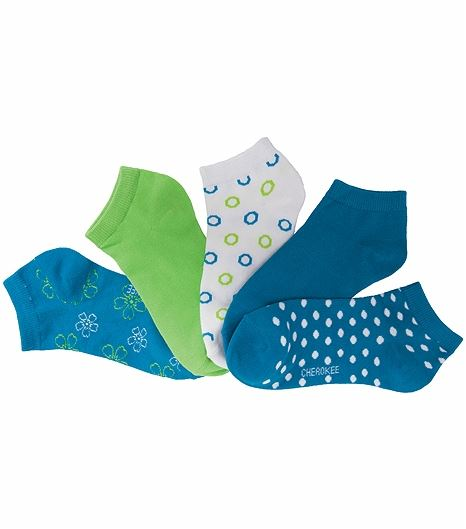 Cherokee Hosiery 6-5pr Packs Of No Show Socks BLUEDAZZLE