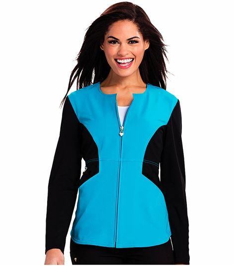Careisma Women's  Zip Front Scrub Jacket-CA302