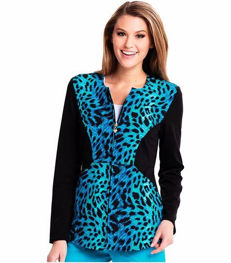Careisma Women's Zip Front Scrub Jacket-CA302X3