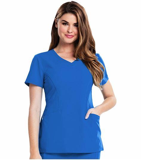 Careisma Women's V-neck Solid Scrub Top-CA601