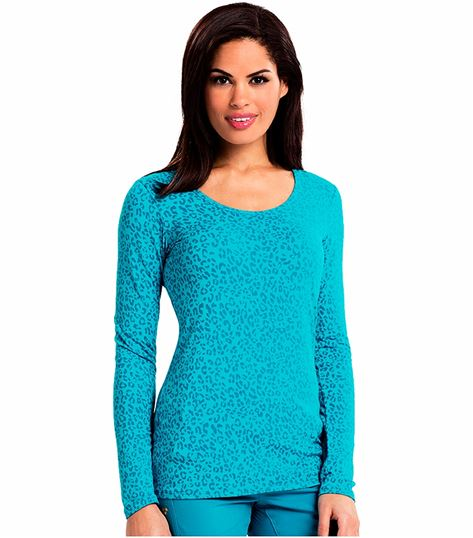 Careisma Women's Underscrub Long Sleeve Knit Tee-CA608X13