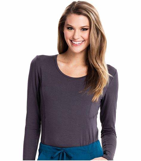 Careisma Women's Long Sleeve Underscrub Knit Tee-CA612A