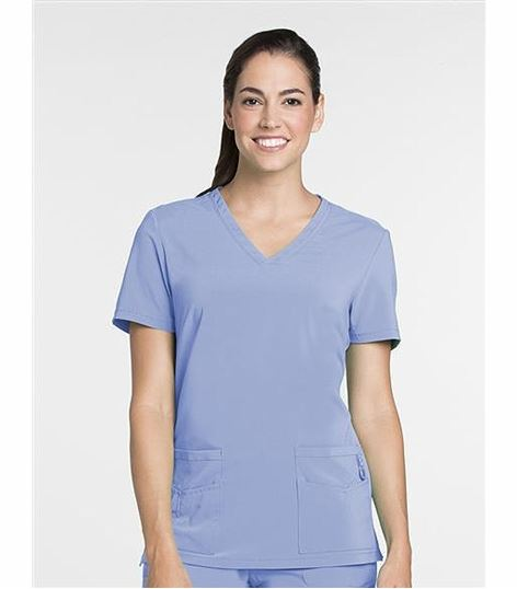 Lynx Women's Solid V-Neck Scrub Top-6003