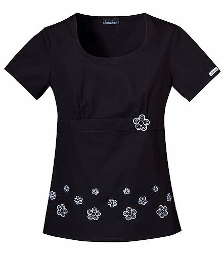 Cherokee Round Neck Embroidered Top 2990