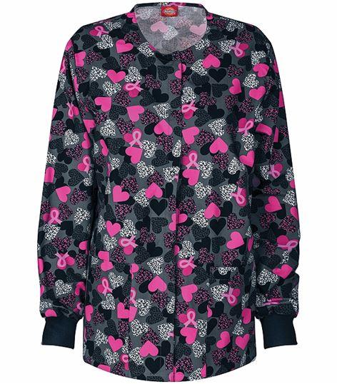 Dickies EDS Women's Printed Warm-Up Scrub Jacket-84300C