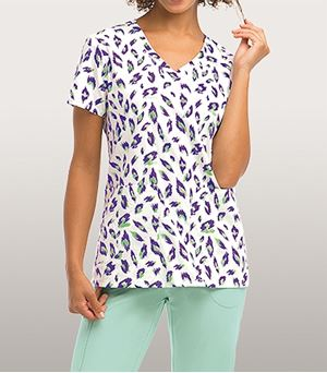 KD110 6 Pocket Printed Lapover V-Neck 8104