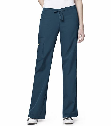 WonderWink Four-Stretch Women's Cargo Drawstring Scrub Pants-5414