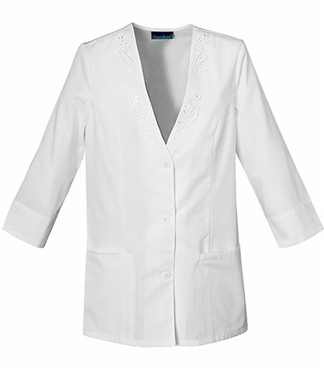 Cherokee Women's 3/4 Sleeve Embroidered Scrub Jacket-1491
