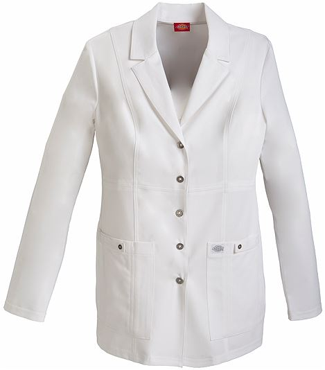 "Dickies Xtreme Stretch 28"" Snap Front Lab Coat 82400"