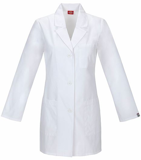 "Dickies EDS Women's 32""  White Antimicrobial Lab Coat-84400A"