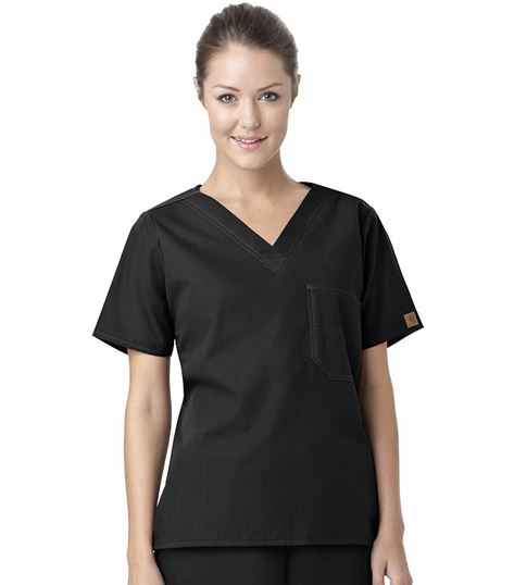 Carhartt Premium Unisex V-Neck Chest Pocket Scrub Top-C10001