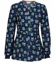 Code Happy Women's Snap Front Warm-Up Scrub Jacket-46302CA