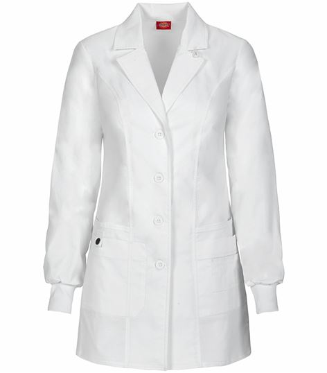 "Dickies GenFlex Women's 32"" Lab Coat With Knit Cuffs-85400"