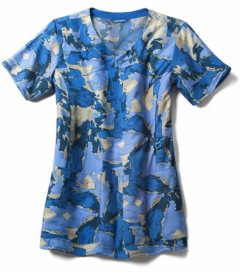 Carhartt Women's Printed Mock Wrap Scrub Top-C12214