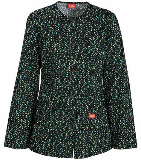 Dickies GenFlex Women's Printed Warm-Up Scrub Jacket-82302
