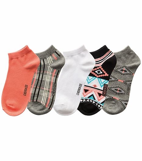 Cherokee Hosiery 6-5pr Packs Of No Show Socks CORALCOVE