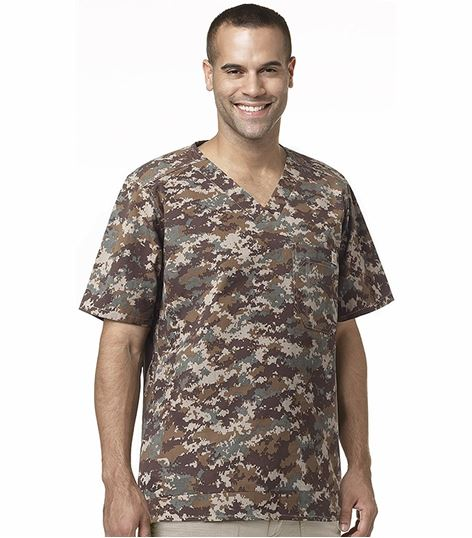 Carhartt Men's Camouflage Print Utility Scrub Top-C15104