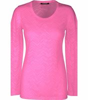HeartSoul Long Sleeve Underscrub Knit Tee With Etched Hearts-20820