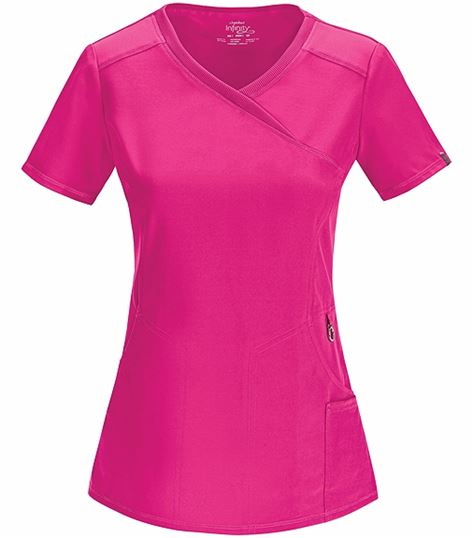 Cherokee Infinity Women's Mock Wrap Solid Scrub Top-2625A