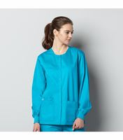 Wonderwink Wonderwork Unisex Snap Front Warm-Up Scrub Jacket-800