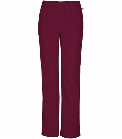 Cherokee Workwear Mid-rise Straight Leg Elastic Waist Pant 44200A