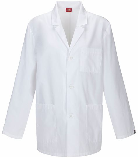 "Dickies EDS Professional Whites 31"" Men's Lab Coat-81404AB"