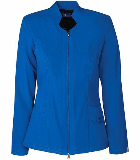 Sapphire Women's Solid Scrub Jacket With Zipper-SA300A