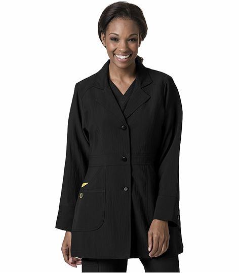WonderWink Women's Button Front Stretch Lab Coat-7004