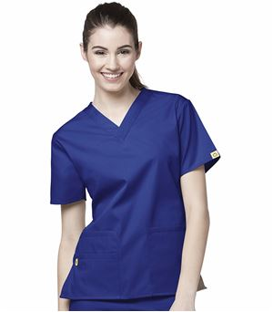 WonderWink Origins Women's V-Neck Solid Scrub Top-6016