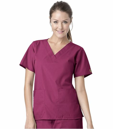 Carhartt Premium Women's Solid V-Neck Scrub Top-C10101