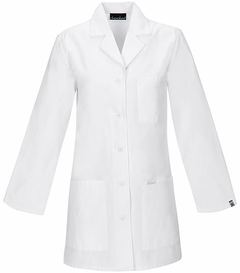 """Cherokee Women's 32"""" White Antimicrobial Lab Coat-1462A"""