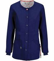 Code Happy Women's Snap Front Warm-Up Scrub Jacket 46300AB