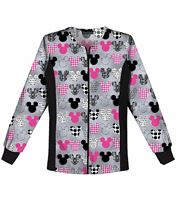 Cherokee Tooniforms Women's  Printed Zip Up Warm-Up Scrub Jacket-6315C