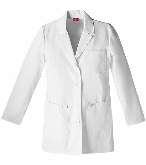 "Dickies EDS Women's 30"" White Lab Coat-82403"