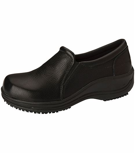 Anywear by Cherokee Women's Leather Slip On Nursing Shoe SAVVY